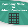 Company Name in Admin Customers